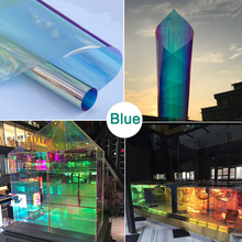 self-adhensive DIY material transparent holographic rainbow iridescent  dicroic film for home decor window wedding decoration
