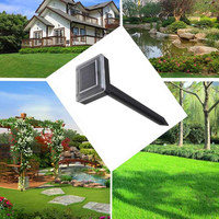 ABS Ultrasonic Rat Repeller Black Insect Animal 400 1000(HZ) Garden Outdoor Solar Energy Eco Friendly Gopher Electronic Yard