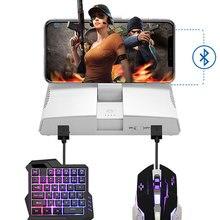 Bluetooth Stereo gameing Tastatur Maus Konverter Für Ipad Iphone Android Smart Telefon PUBG Mobile Gamepad Adapter Mit Telefon Halter