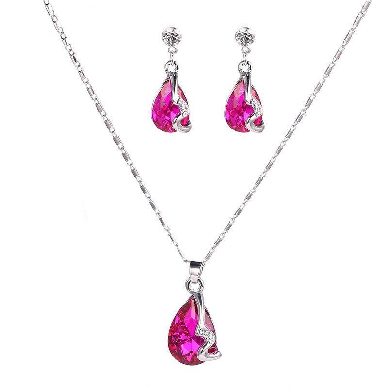 水滴宝石粉红色