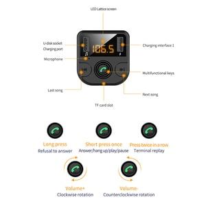Image 5 - Samochodowy nadajnik bluetooth Fm bezprzewodowa ładowarka samochodowa podwójny USB bluetooth 5.0 Audio muzyka odtwarzacz MP3 akcesoria samochodowe bluetooth