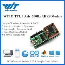 WitMotion WT931 ما يصل إلى 500Hz AHRS IMU 9 محور الاستشعار زاوية + مقياس التسارع + جيروسكوب + مغناطيسي MPU 9250 على جهاز الكمبيوتر/أندرويد/MCU
