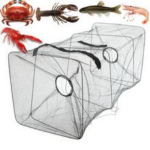 25 # Fish Trap Net attrezzi da pesca granchio gamberetti gamberetti gamberi aragosta gambero pieghevole accessori di alta qualità gamberi Catcher cheap CN (Origine) Multifilament Piccola maglia Fishing Net As Show Doppio Rete del drive-in