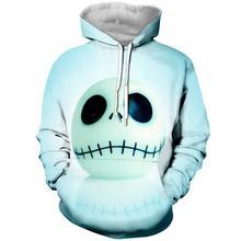 2019 LBG new 3D print nightmare before christmas Hoodie Mens and Womens Fashion Sweatshirts Cosplay Hoodies Harajuku