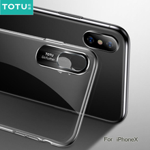 TOTU Ultra-Transparent Back Cover for iPhone 10x Ultra-thin Deluxe Hooded Case Xs Max Xr Coque Fundas Phone