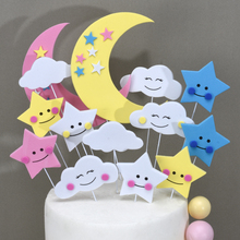 Cakelove 1 Set Cloud Moon Stars EVA Birthday Cake Topper for Decoration Party Cupcake Decoracions Favor
