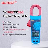Pince multimètre numérique AC/DC Tension Condensateur Testeur de Résistance Multimetr true RMS 6000 Compte avec rétro-éclairage De Gamme Automatique