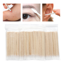 Buds-Swabs Cleaning-Tool Micro-Brushes Cotton-Swab Lint-Free Makeup Nose Wood Disposable