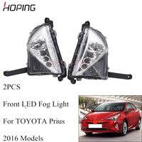 Hoping 2PCS Front Bumper LED Fog Light For TOYOTA Prius 2016 Fog Lamp LED Drl Driving light with Turnning Light