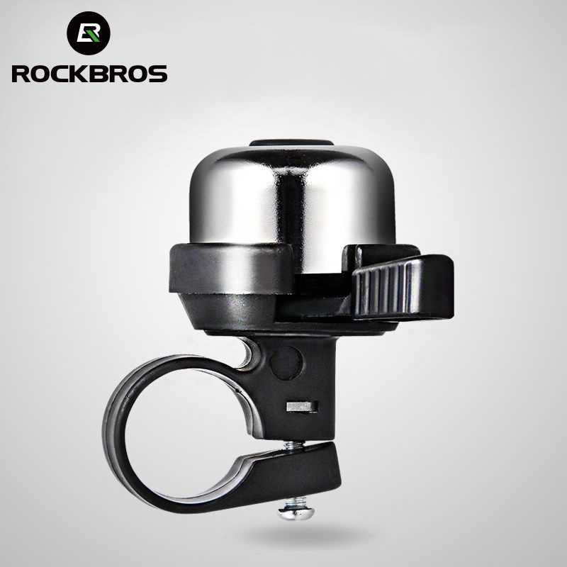 ROCKBROS Bike Bell Bicycle Ring Bell Classic Brass Bike Horn Ring Bell with Crisp Clear Sound Cycling Accessories for Mountain Bike Road Bike