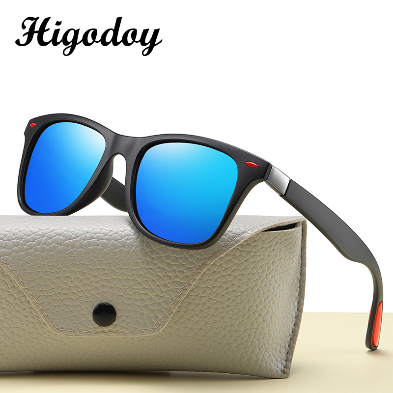 Higodoy Vintage Men's Polarized Sunglasses Outdoor Driver Sunglasses Mirror Retro Goggle Square Luxury Brand Sunglasses Women