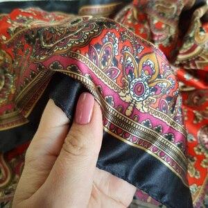 Image 4 - ผ้าพันคอผ้าไหมซาตินผ้าพันคอผ้าพันคอผู้หญิงฤดูร้อนกระเป๋าสแควร์ขนาดเล็กห่อBohemian Retro Paisleyผ้าพันคอสุภาพสตรีอินเดียมุสลิมอิสลามKerchief