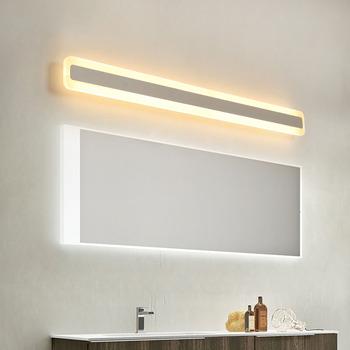 Nowa ściana LED światło lustrzane 40-120cm 16-48W AC110-240V wodoodporna nowoczesna akrylowa lampa ścienna do lampy oświetlenie łazienkowe tanie i dobre opinie NEO Gleam W górę iw dół Foyer Bed room Jadalnia Łazienka Badania Bedroom ROHS Klin 90-260 v Pokrętło przełącznika