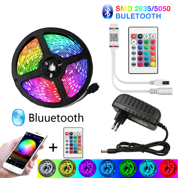 HomeJSDH Bluetooth Led Strip Festoon Led Lights SMD Waterproof RGB Ledy On The Wall 12 Volt Led Ws2812 Led Strip 12V 10 M Tv image