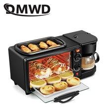 DMWD бытовая электрическая 3 в 1 машина для приготовления завтрака многофункциональная мини капельная Кофеварка хлеб пицца Vven сковорода тостер