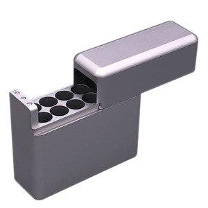 Image 3 - Antiproof 12 ثقوب البسيطة العقلية مربع ل IQOS السجائر ل الليل السجائر تحمل حالة حامل سيجار مربع حالة