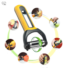 New kitchen utensil multi function rotatable three sided blade