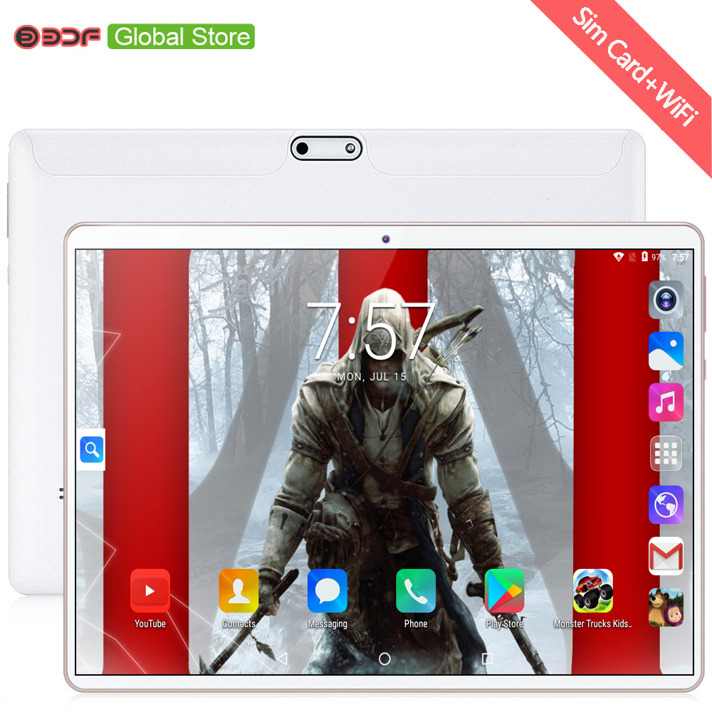New 10 Inch Tablets 3G Phone Call Android 7.0 Google Play 1280x800 IPS Tablet Pc WiFi Bluetooth Android 10.1 Inch Tablet