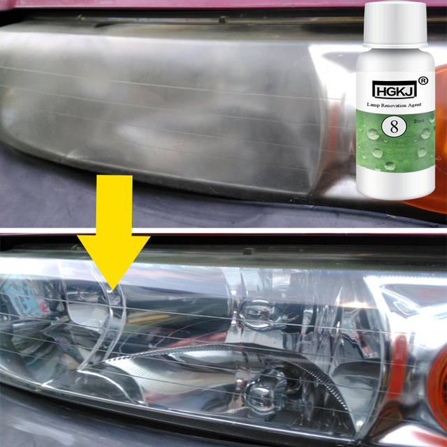 HGKJ-8-20ML Car Polishing Repair Kit Headlight Agent Bright White Headlight Repair Lamp Transformation Window Glass Cleane TSLM1 1