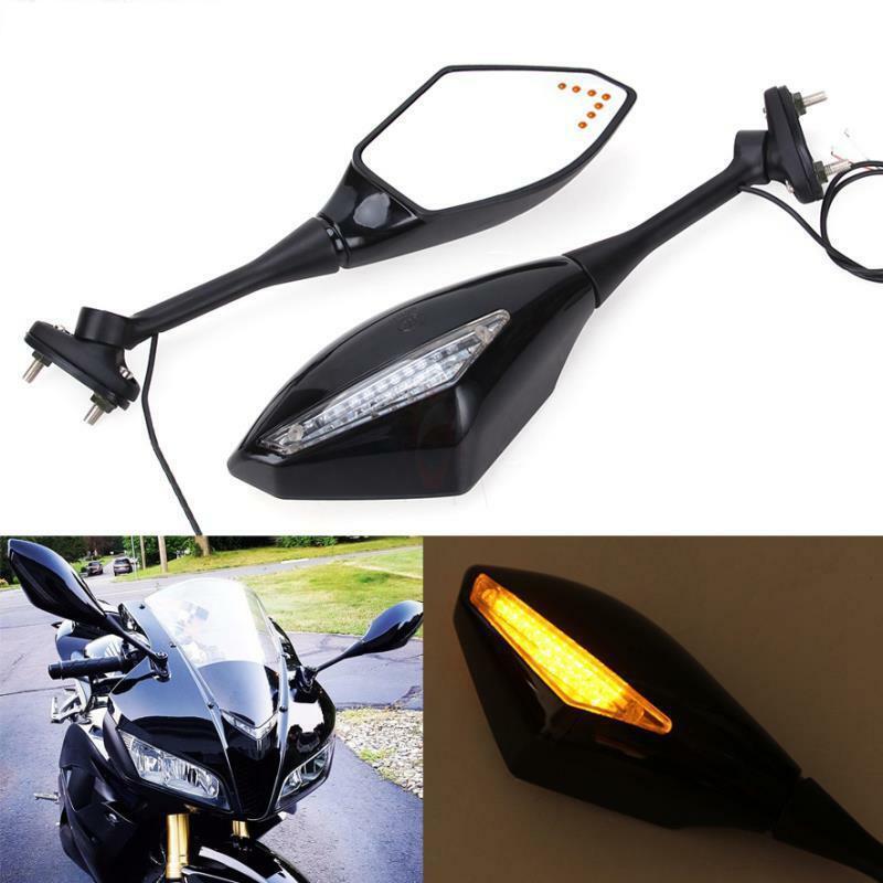 Motorcycle Turn Signal Integrated Mirrors LED Light For Honda CBR600RR 2003-2017 CBR1000RR