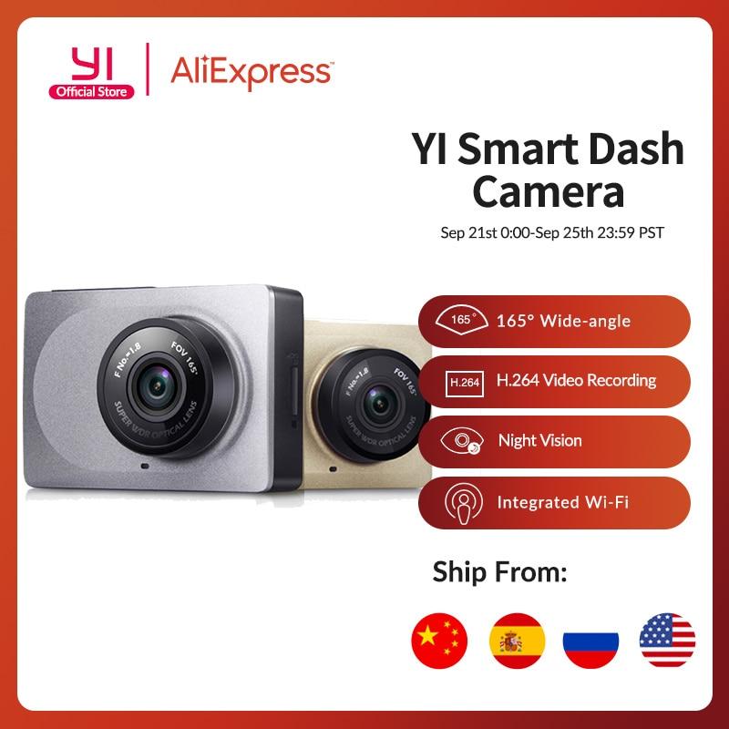 "YI Smart Dash Camera 2.7"" Screen Full HD 1080P 165 degree Wide-Angle Car DVR Dash Cam with G-Sensor International Night Vision"