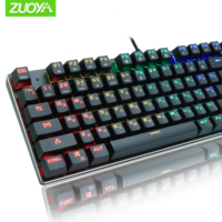 ZUOYA RGB/Mix light Gaming Mechanical Keyboard USB Wired Russian/English layout Anti ghosting Red Switch Keyboard For PC Gamer