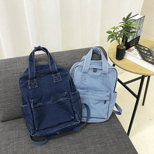Casual Female Backpack Denim School Backpack High Quality College Teen Girl School bags Women Student Backpack