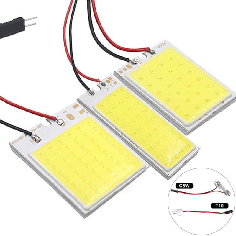 1x C5W C10W LED COB หลอดไฟ Festoon 31 มม.36 มม.69mm 42mm 12V สีขาว 5W5 T10 W5W COB LED รถใบอนุญาตแผ่นภายในโคมไฟ