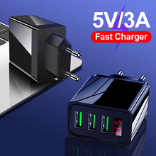 Digital Display USB Charger For iPhone 11 Adapter Fast Charging Wall Mobile Phone Charger For Samsung Xiaomi Huawei Tablet