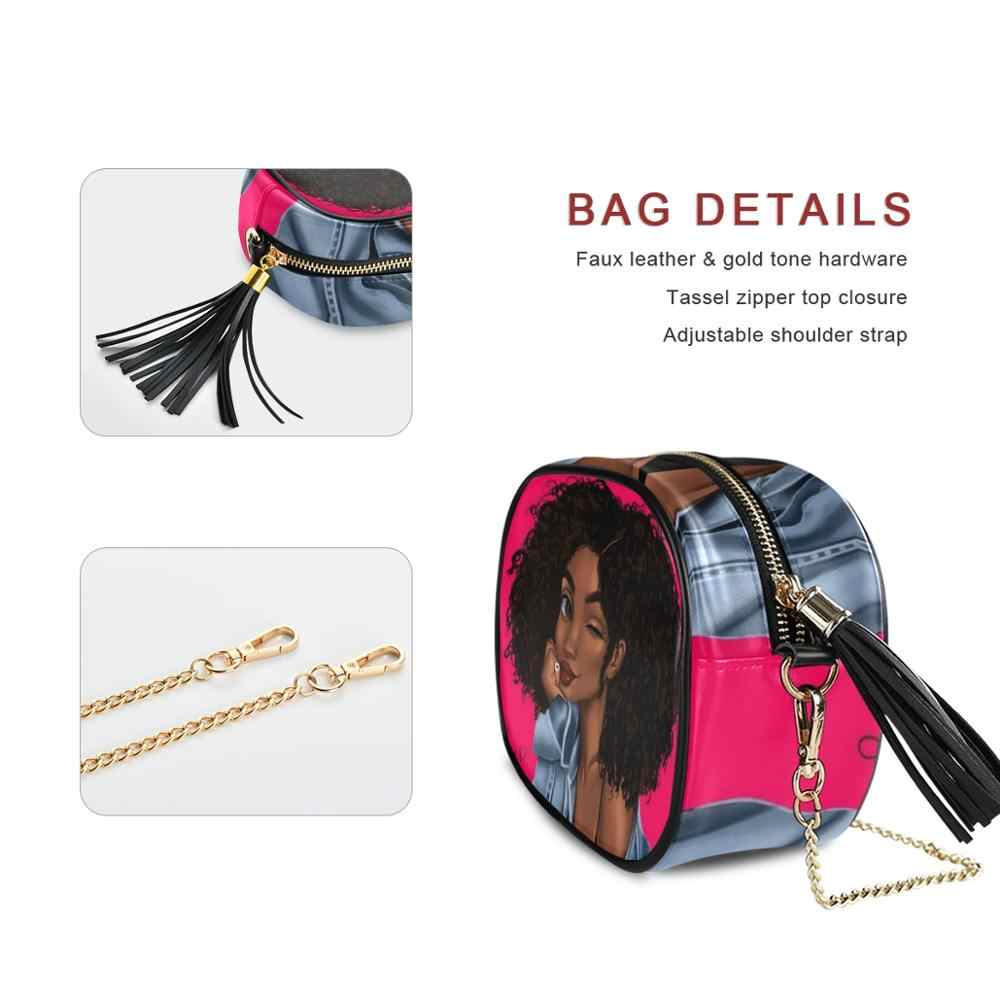 Bolsa tiracolo feminina em couro sintético, bolsa de mão pequena atravessada couro sintético afro para mulheres negras sacos quadrados