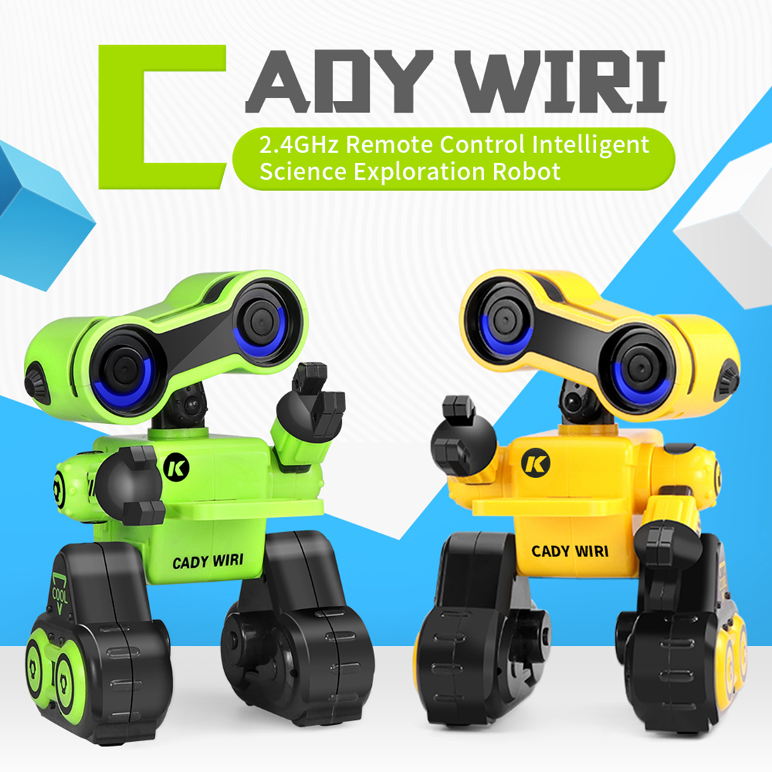 MODIKER CADY WIRI Intelligent Programming Robot With Singing Dancing Voice Chat Light Control Functions High Tech- Green