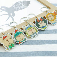 Acrylic Keychain Pet Law Bucket Cartoon Pattern Keychain Car Key Chain Men And Women Pendant(China)
