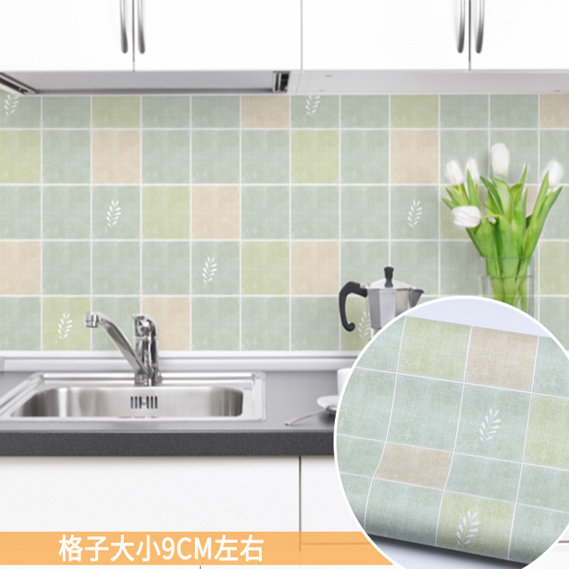 High Temperature Kitchen Oil-proof Tile Wall Stickers Anti-fouling Waterproof