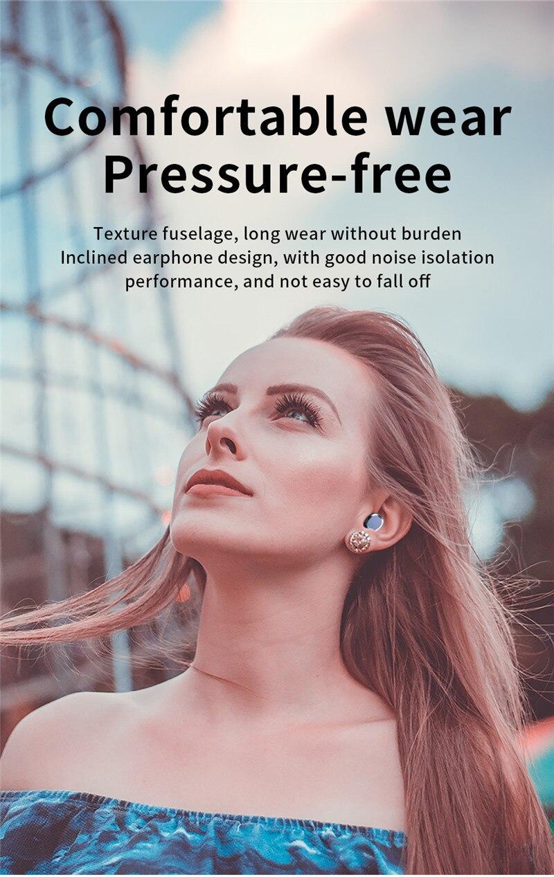 bluetooth 5.0 fone de ouvido invisível in-ear