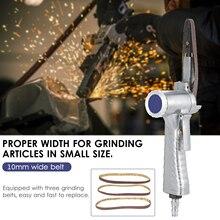 10MM Metal Pneumatic Air Belt Sander Machine with 1/4-In Air Inlet Pneumatic Belt Sander Pneumatic Polishing Machine Grinder