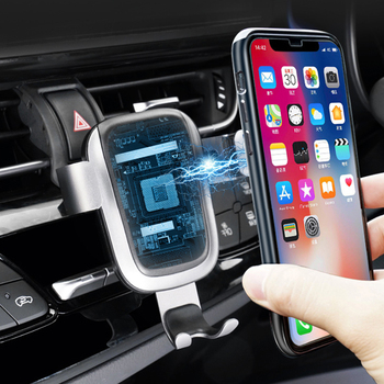 Magnetic Carbon Fiber Car Phone Holder For Toyota C-HR 2017 2018 Air Vent Wireless Charging Cellphone Stand Clip For CHR 2019