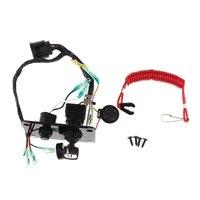 Outboard Single Engine Key Switch Panel Assembly for Yamaha 704 82570 12 00