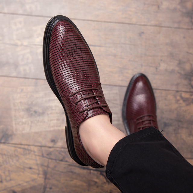 Mens Shoes Casual Luxury Leather Shoes Male Comfortable Dress Shoes Fashion Leisure Walk Formal Shoes Prom Evening Long Dresses 6