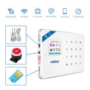Image 3 - KERUI W18 домашняя система безопасности Aalrm Wi Fi GSM беспроводное приложение управление 1,7 дюймовая сенсорная панель клавиатуры домашняя охранная сигнализация