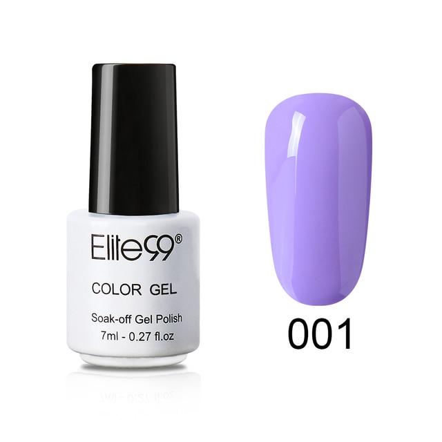 Elite99 7ML Lila Farbe Gel Polnisch Tränken Weg Vom UV LED Nagel Lack Hybrid Nägel Farbe Vernis UV Gel Nagel polnischen Gel Lack Top