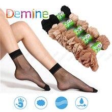 10 шт. Сексуальные женские носки лето мода невидимые ультра тонкие шелковые носки милые Harajuku Girs эластичные дышащие короткие чулки