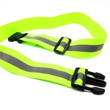 Cinto reflexivo de segurança ajustável da cintura dos homens das mulheres dos homens das correias reflexivas da engrenagem de segurança da noite visível alta running para crianças