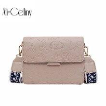 Маленькая сумка, новинка, корейская мода, Ретро стиль, сумка-мессенджер, широкий плечевой ремень, сумка на плечо, маленькая квадратная сумка