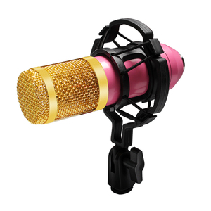 Image 2 - Bm 800 Karaoke Microphone Kits Professional Condenser Microphone Bundle Pop Filter Mikrofon for Computer Laptop Studio Recording