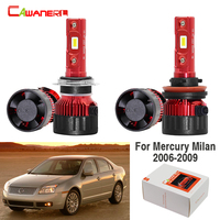 Cawanerl 4 X Car Styling 60W LED Bulb Headlight High Low Beam White 9000LM 12V For Mercury Milan 2006 2007 2008 2009
