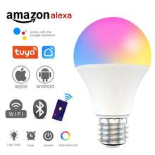 Tuya novo wifi inteligente lâmpada de iluminação para casa 9w e27 magia rgb + cw + ww led colorido lâmpada pode ser escurecido suporte ios/android txtb1