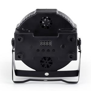 Image 2 - LED 파 스테이지 RGBWA UV rgbw 4in1 5in1 6in1 조명 DJ DMX 7X12W 7x18W 7x15W LED 플랫 SlimPar 쿼드 라이트 No Noise