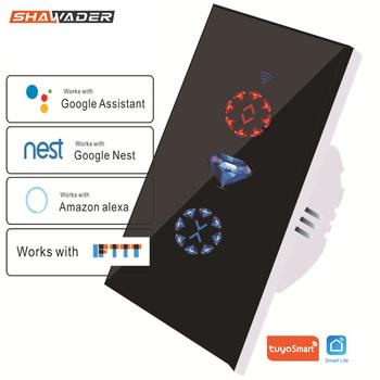 WiFi inteligentny przełącznik kurtyny Tuya pilot do garażu elektryczne drzwi rolety praca z Alexa Google Home Nest IFTTT tanie i dobre opinie SHAWADER Smart Curtain Switch 2200W 110-240 v WCL010