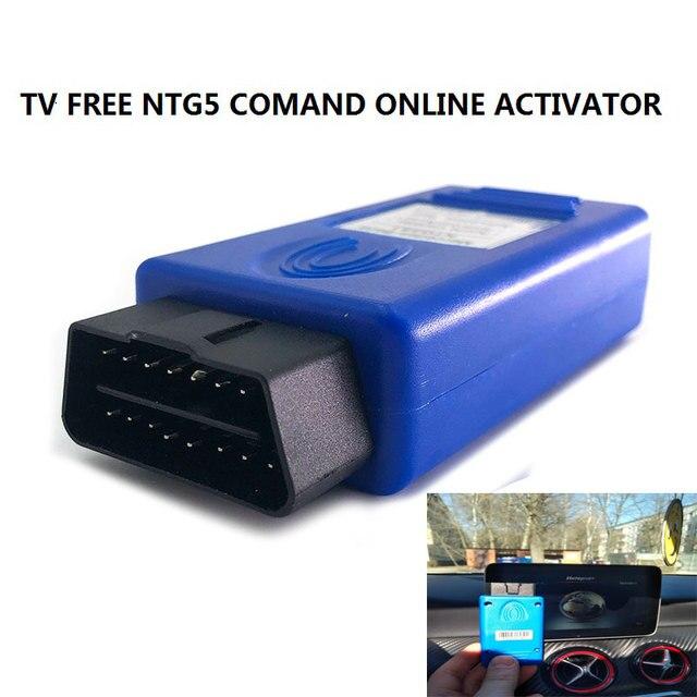 2020 טלוויזיה משלוח NTG5 COMAND באינטרנט HARMAN AUX ב & וידאו בתנועה OBDII ACTIVATOR עבור C/GLC/S/V W205 W222 W447 X253 OBD כלי