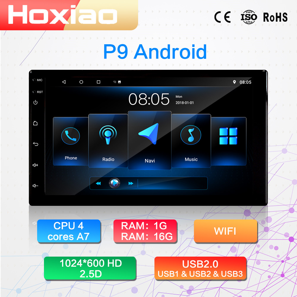 Multimedia-Player Car-Radio Touch-Screen Android Navigation 2din WIFI 2-Din with Fm-Dab